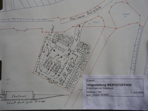 Entwurf Erweiterung Wertstoffhof